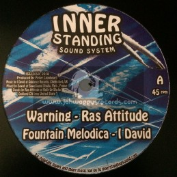 """Inner Standing Sound System-12""""-Warning / Ras Attitude + Read The Signs / Dre Z"""