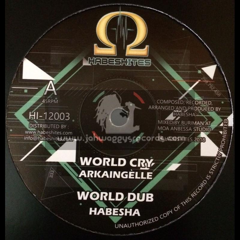 """Habeshites-12""""-World Cry / Ark Aingelle + Praise Him / Afrikan Simba"""