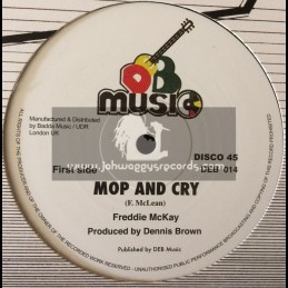 "D.E.B. Music-12""-Mop And Cry / Freddie McKay + Pope Of Rome Falling"