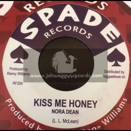 "Spade Records-7""-Kiss Me Honey / Nora Dean + Running Wild / Ranny Williams & Hippy Boys"