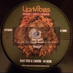 "Lion Vibes-12""-Gi Dem / Ras Teo & I David"