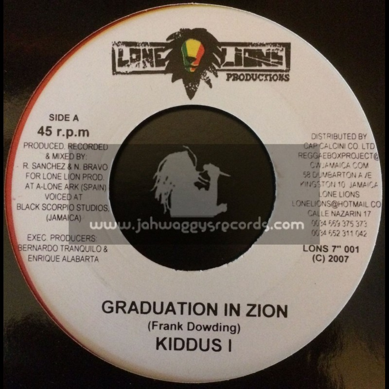 """Lone Lions Productions-7""""-Graduation / Kiddus I + Woman A Di Yard / Thriller & Phillip Fraser"""