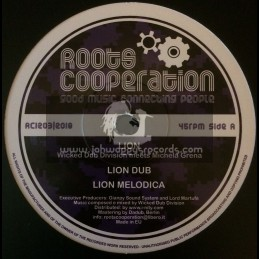 "Roots Cooperation-12""-Lion / Wicked Dub Division Meets Michela Grena + Deliver Me / Wicked Dub Division Meets Mannaro Man"
