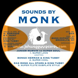 """Sounds By Monk-12""""-Ep-Super Love / Junior Murvin + Flying High / I Roy"""