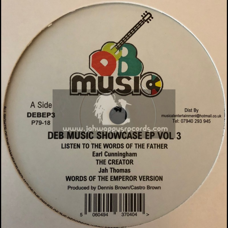 "D.E.B. Music-12""-DEB Music Showcase Ep Vol 3-Listen To Words Of The Father / Earl Cunningham"