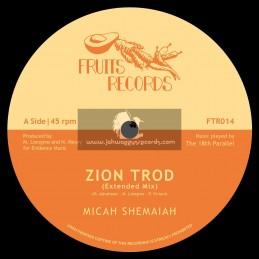 """Fruits Records-12""""-Zion Trod / Micah Shemaiah + Soul Rider / Micah Shemaiah"""