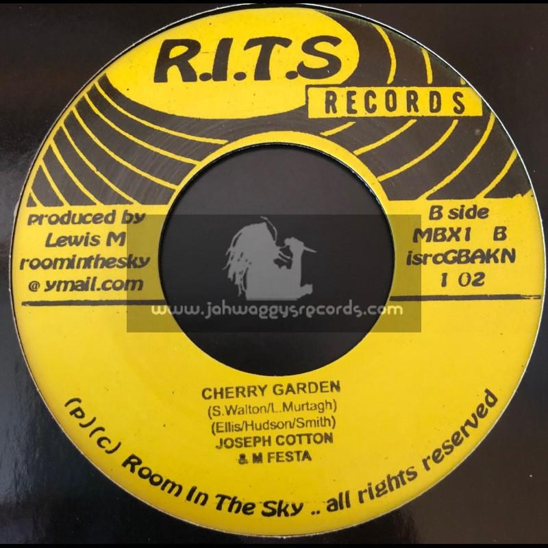 """R.I.T.S Records-7""""-Cherry Garden / Joseph Cotton & M Festa"""