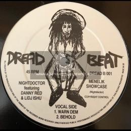"""Dread Beat-12""""-Menelik Showcase / Nightdoctor Feat. Danny Red & Lidj Ishu"""