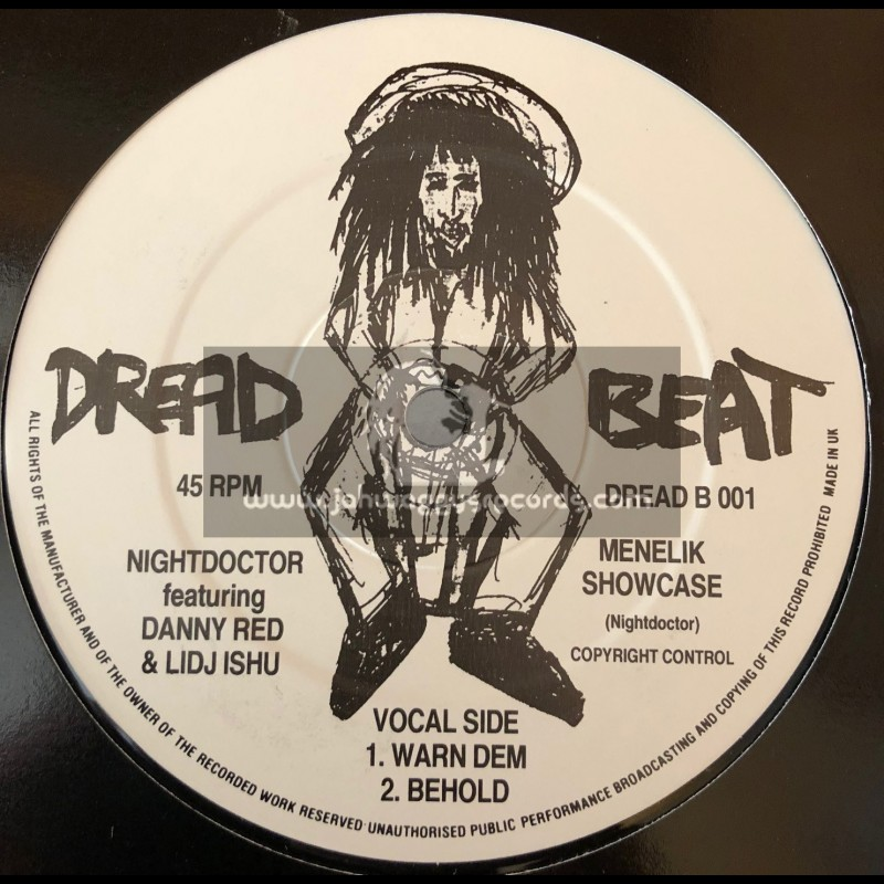 "Dread Beat-12""-Menelik Showcase / Nightdocter Feat. Danny Red & Lidj Ishu"