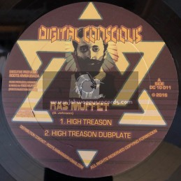 """Digital Conscious-10""""-High Treason / Ras Muffet + Killer Riddim / Ras Muffet"""