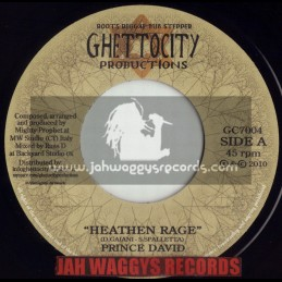 "GHETTO CITY PRODUCTIONS-7""-HEATHEN RAGE / PRINCE DAVID"