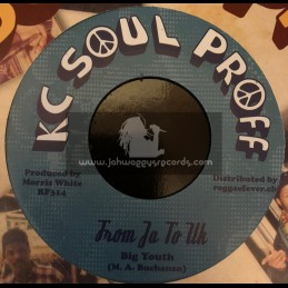 "KC Soul Proff-7""-From JA To UK / Big Youth + Love Is A Gamble / KC White"