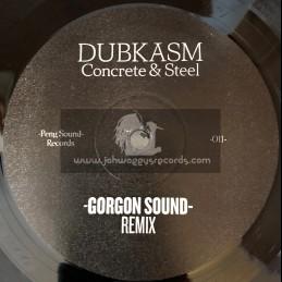 "Peng Sound Records-12""-Concrete & Steel / Gorgon Sound Remix + Concrete & Steel / O.B.F Remix"