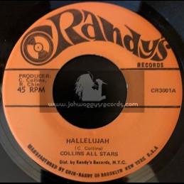 "Randys-7""-Hallelujah / Collins All Stars + Earthquake / Collins All Stars"