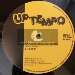 "Uptempo Records-Jah Fingers Records-12""-Rough Neck A Town / Lukie D + Love Will Find A Way / Lukie D"