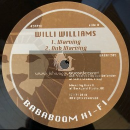 "Bababoom Hi-Fi-12""-Warning / Willi Williams + Still Waters / Dub Defender"