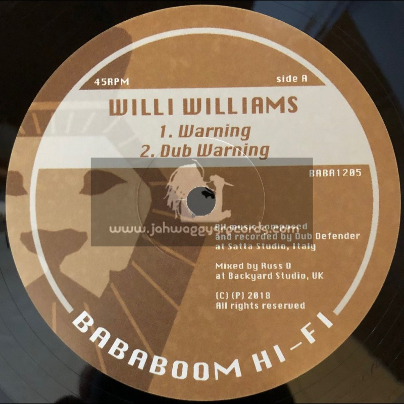 "Bababoom Hi-Fi-12""-Warning / Willi Williams + Still Waters / Dub Defender"