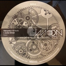 """Moonshine Recordings-12""""-Future / Halcyonic & G Roots Ft. Junior Dread"""
