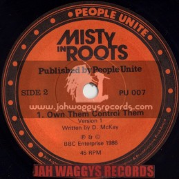 """MISTY IN ROOTS-7""""-OWN THEM CONTROL THEM / MISTY IN ROOTS"""