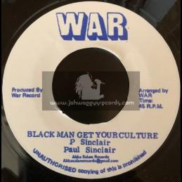 """War-7""""-Black Man Get Your Culture / Paul Sinclair"""