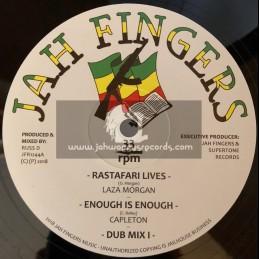 "Jah Fingers-12""-Rastafari Lives / Laza Morgan + Enough Is Enough / Capleton - Disciples Riddim Section"