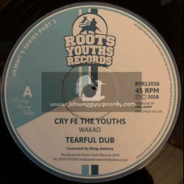 "Roots Youths Records-12""-Cry Fe The Youths / Wakad + Winner Takes It All / Wakad - Jammys Series Part 3"