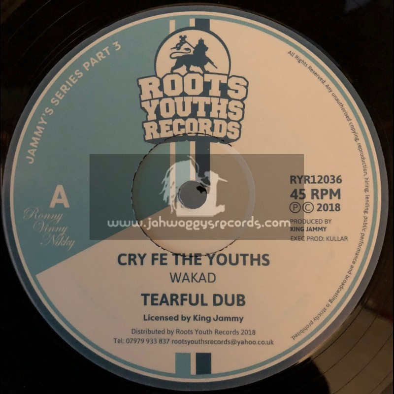"""Roots Youths Records-12""""-Cry Fe The Youths / Wakad + Winner Takes It All / Wakad - Jammys Series Part 3"""