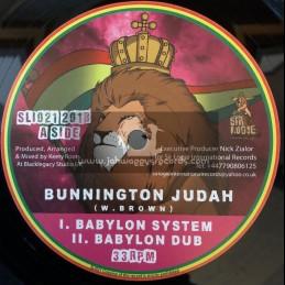 "Sir Logie International Records-10""-Babylon System / Bunnington Judah + Eyes Can See / Sattalite"