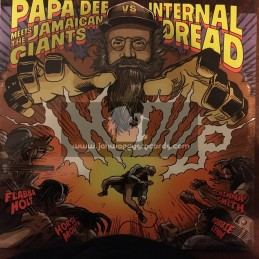 Black Viking Records-Lp-Papa Dee Meets The Jamaican Giants Vs Internal Dread In Dub