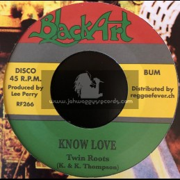 """Black Art-7""""-Know Love / Twin Roots"""
