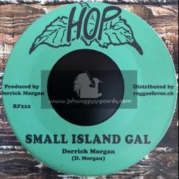 """Hop-7""""-Small Island Gal / Derrick Morgan + Family War / Nehemiah Reid"""