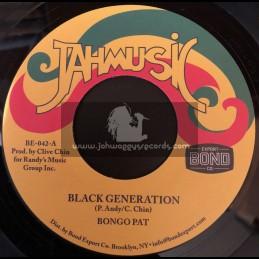 """Jahmusic-7""""-Black Generation / Bongo Pat"""