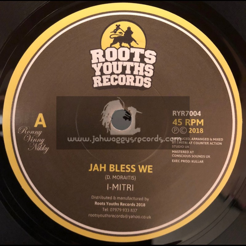 """Roots Youths Records-7""""-Jah Bless We / I-Mitri"""