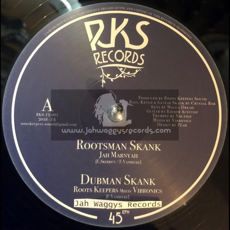 "RKS Records-12""-Rootsman Skank / Jah Marnyah - Roots Keepers Meets Vibronics"