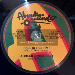 """Abendigoo Records-12""""-Hard In This Time / Earl Sixteen + All Are One / Brother Culture"""