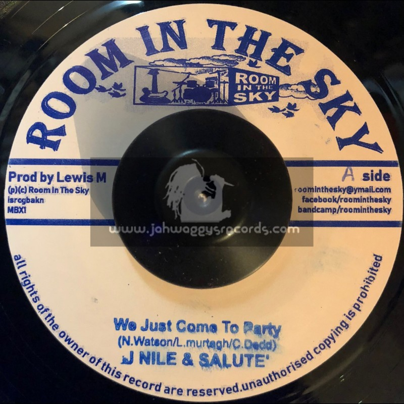 """Room In The Sky-7""""-We Just Come To Party / J Nile And Salute + Ikatrommy / Vin Gordon And Skycru"""