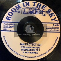 """Room In The Sky-7""""-Jah Protect I & I / The Mansion Of I Feat. Ras Bomba"""