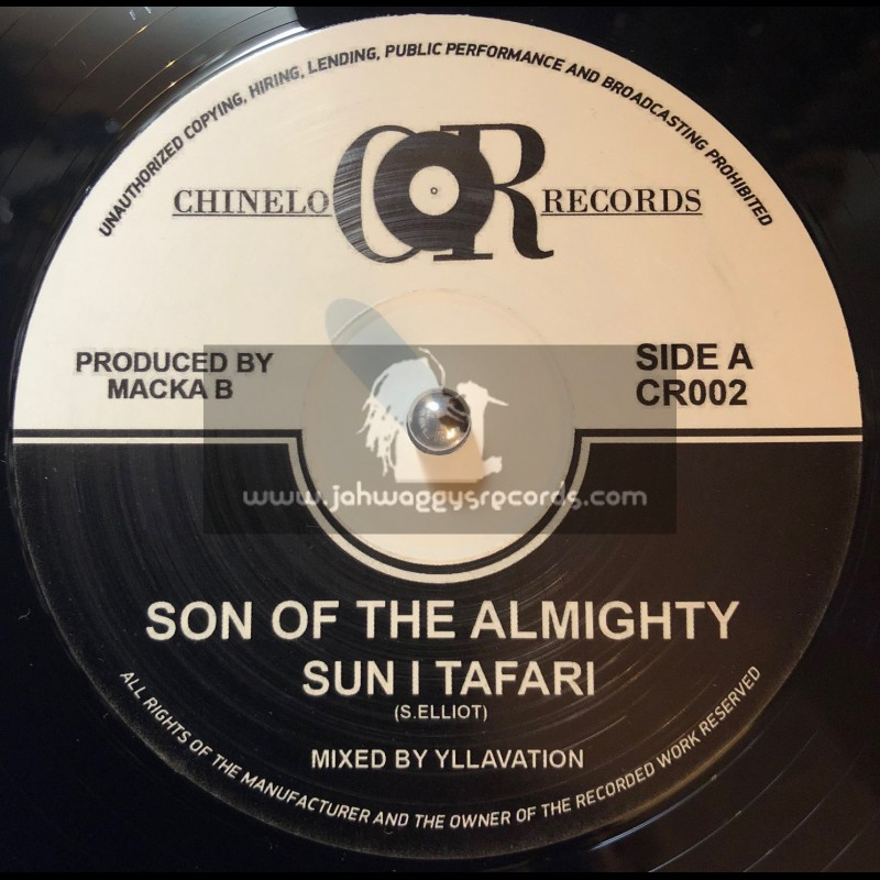 """Chinelo Records-12""""-Son Of The Almighty / Sun I Tafari + Bad To Your Own / Macka B"""