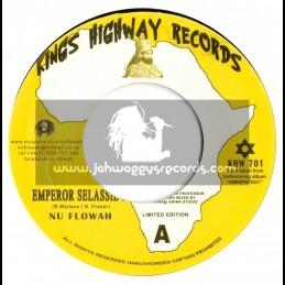 """KINGS HIGHWAY RECORDS-7""""-EMPEROR SELASSIE I / NU FLOWAH"""