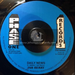 """Phase One Records-7""""-Daily News / Jah Berry"""