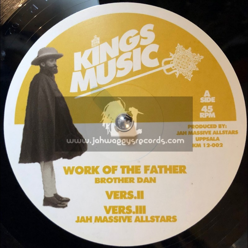 """Kings Music-12""""-Work Of The Father / Brother Dan + Walls Of Jerico / Brother Dan"""