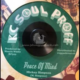 "KC Soul Proff-7""-Peace Of Mind / Mickey Simpson"