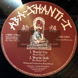 "Aba-Shanti-I-12""-World Cry / Blood Shanti + Rainbow City / Blood Shanti"