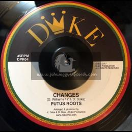 "Duke Records-7""-Changes / Putus Roots + Farmer / Putus Roots"