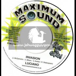 """MAXIMUM SOUNDS 7""""-INVASION / LUCIANO"""