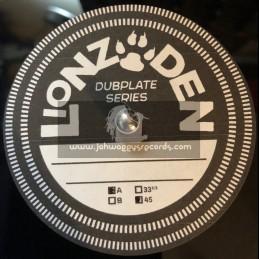 """Lionz den Dubplate Series-10""""- Rebel Dub / Jerry Lions"""