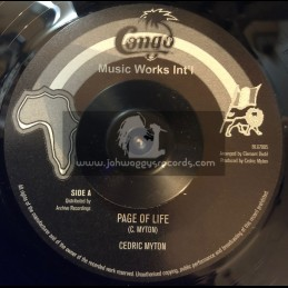 "Congo Works Int-7""-Page Of Life / Cedric Myton + Page Of Life Version / Sound Dimension"