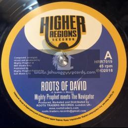 "Higher Regions Records-7""-Roots Of David / Mighty Prophet Meets The Navigator"