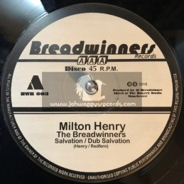 "Breadwinner Records-12""-Salvation / Milton Henry + Gold Digger / Milton Henry - Limited 300 Press"
