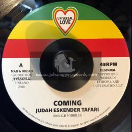 """Universal Love-7""""-Coming / Judah Eskender Tafari"""